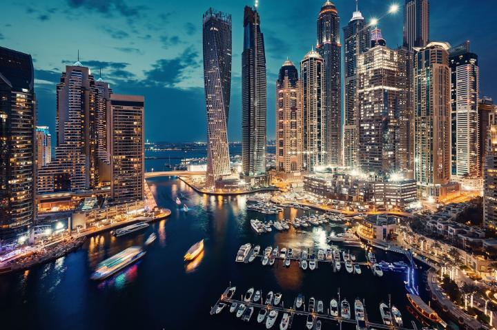 Dubai evening skyline